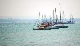 cross swimming Balaton