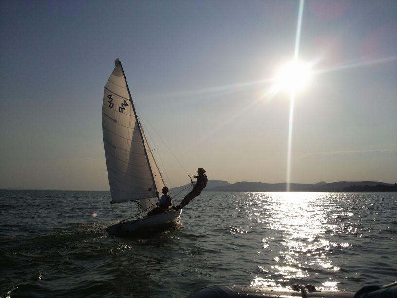 sport sailing at Balaton