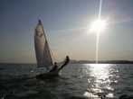 sailing at Balaton